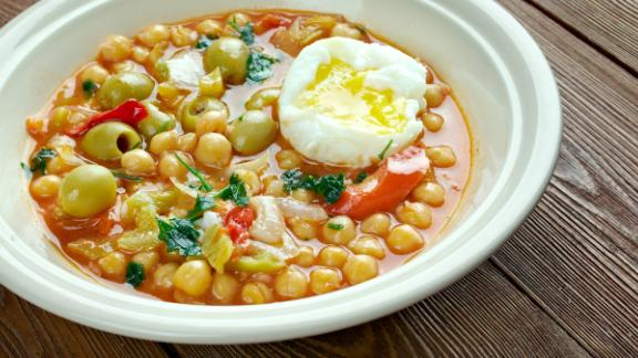 Tunisia: Lablabi is a spiced chickpea soup that, yes, is a breakfast food in this part of the world.