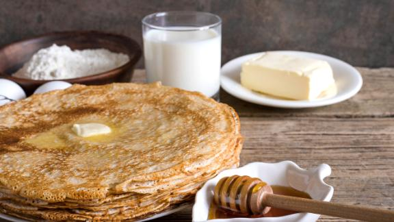 Ukraine: Syrniki are pancakes -- tender and fluffy on the inside and crispy golden brown on the outside.