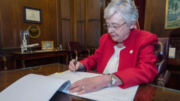 Gov. Kay Ivey singing AL abortion bill