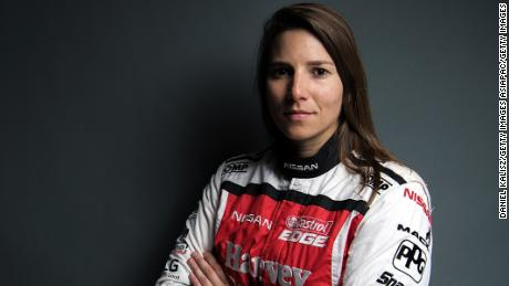 SYDNEY, AUSTRALIA - FEBRUARY 15: Simona de Silvestro driver of the #78 Team Harvey Norman Nissan Altima  poses during the 2018 Supercars Media Day at Fox Studios on February 15, 2018 in Sydney, Australia. (Photo by Daniel Kalisz/Getty Images)