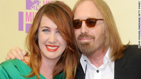 Musician Tom Petty and daughter Adria Petty in Los Angeles, California.