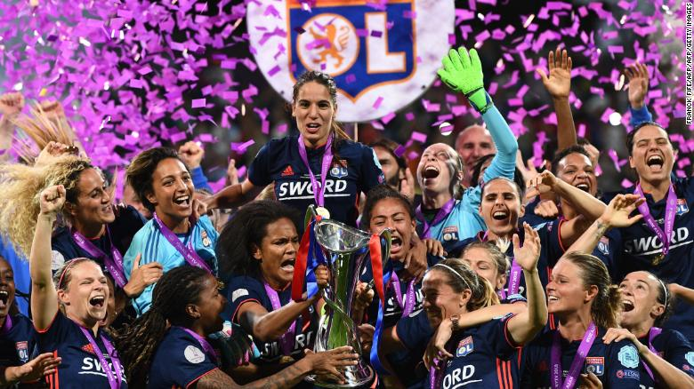 ผลการค้นหารูปภาพสำหรับ Lyon romps to sixth Women's Champions League title as Ada Hegerberg nets hat-trick