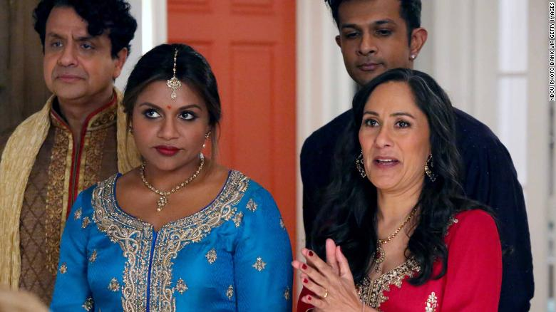 "Mindy Kaling as Mindy Lahiri, Sakina Jaffrey as Sonu Lahiri in the US TV series ""The Mindy Project""."