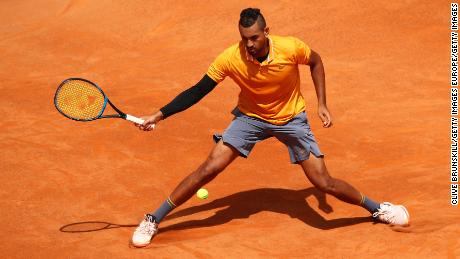 Kyrgios had won his opening match at the Italian Open