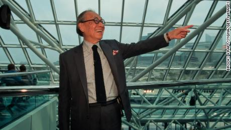 Internationally renowned architect I.M. Pei designed the glass Pyramid at the Louvre in Paris, the Bank of China Tower in Hong Kong and the Rock and Roll Hall of Fame in Cleveland amongst others. (Photo by Brooks Kraft LLC/Sygma via Getty Images)