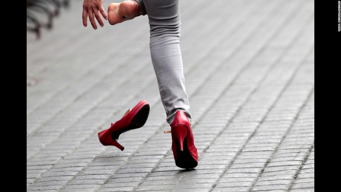 People in Monterrey, Mexico, raced in high heels to raise awareness about LGBT equality on Sunday, May 12.