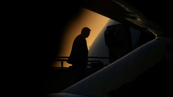 Trump boards Air Force One in Kenner, Louisiana, in May 2019.