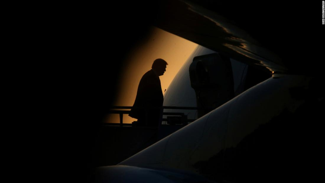 "US President Donald Trump boards Air Force One in Kenner, Louisiana, on Tuesday, May 14. <a href=""http://www.cnn.com/2019/05/09/world/gallery/week-in-photos-0510/index.html"" target=""_blank"">See last week in 24 photos</a>"