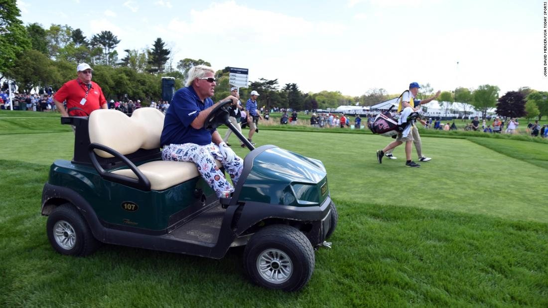John Daly, the PGA Championship winner in 1991, was making a bit of history at Bethpage Black. He has been given permission to use a golf cart at the tournament as a result of his osteoarthritis in his right knee.