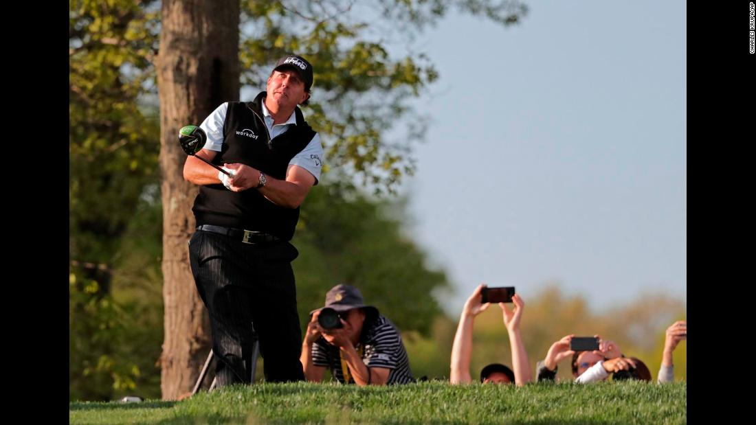 As Phil Mickelson watches his tee shot fly into the distance, his fans make sure to leave with their own memories.