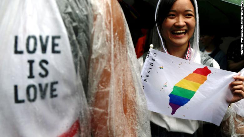 Taiwan becomes first place in Asia to approve same-sex marriage