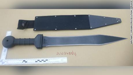 A CPS photo of the weapon Renshaw intended to use.