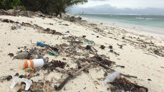 Plastic found on Cocos (Keeling) Island.