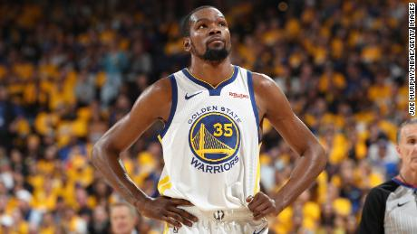 Kevin Durant hasn't played since suffering a calf injury May 8 in Game 5 of the Western Conference semifinals.