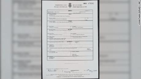 The birth certificate of Archie Harrison Mountbatten-Windsor.