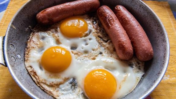 Germany: Eggs and sausage is standard breakfast fare.
