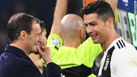 Cristiano Ronaldo joined forces with Allegri in the summer of 2018, with the Juventus manager tasked with winning the Champions League.