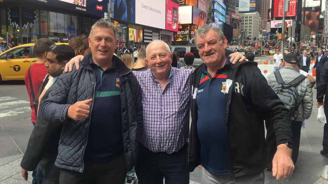 A woman took a picture of three Irish men in Times Square. It took Twitter only an hour to track the lads down.