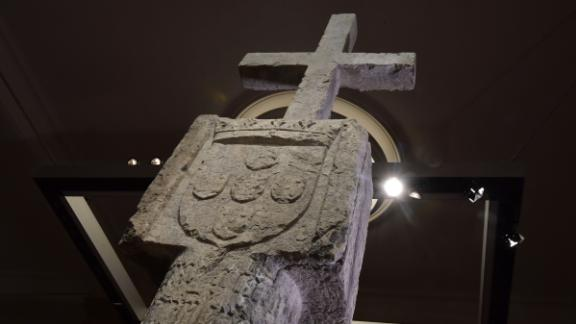 The Stone Cross, a key 15th Century navigation landmark erected by Portuguese explorers
