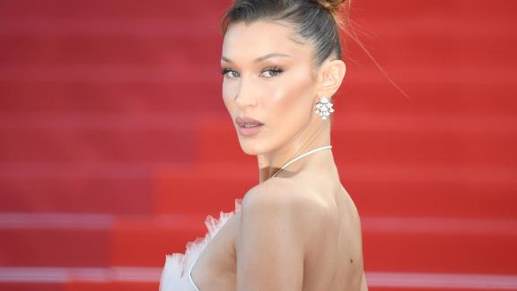 "TOPSHOT - US model Bella Hadid poses as she arrives for the screening of the film ""Rocketman"" at the 72nd edition of the Cannes Film Festival in Cannes, southern France, on May 16, 2019. (Photo by LOIC VENANCE / AFP)        (Photo credit should read LOIC VENANCE/AFP/Getty Images)"