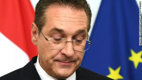 "Heinz-Christian Strache appeared at a news conference Saturday where he denied doing ""anything against the law."""