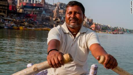 Om Prakash says it's important to keep the River Ganges clean.