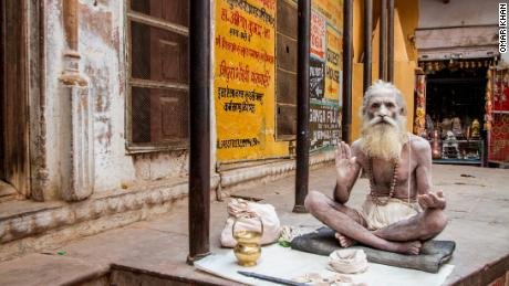 Varanasi is famous for its large number of holy men -- or Sadhus -- who come to the city to live a spiritual life.
