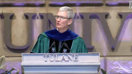 Apple's Tim Cook speaks at Tulane