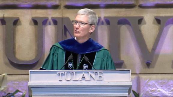 Apple's Tim Cook speaks at Tulane