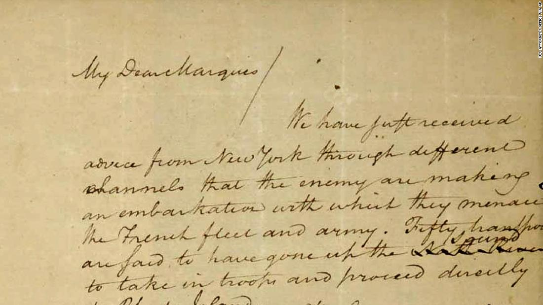 After more than 70 years, a stolen Alexander Hamilton letter may soon return home to Massachusetts