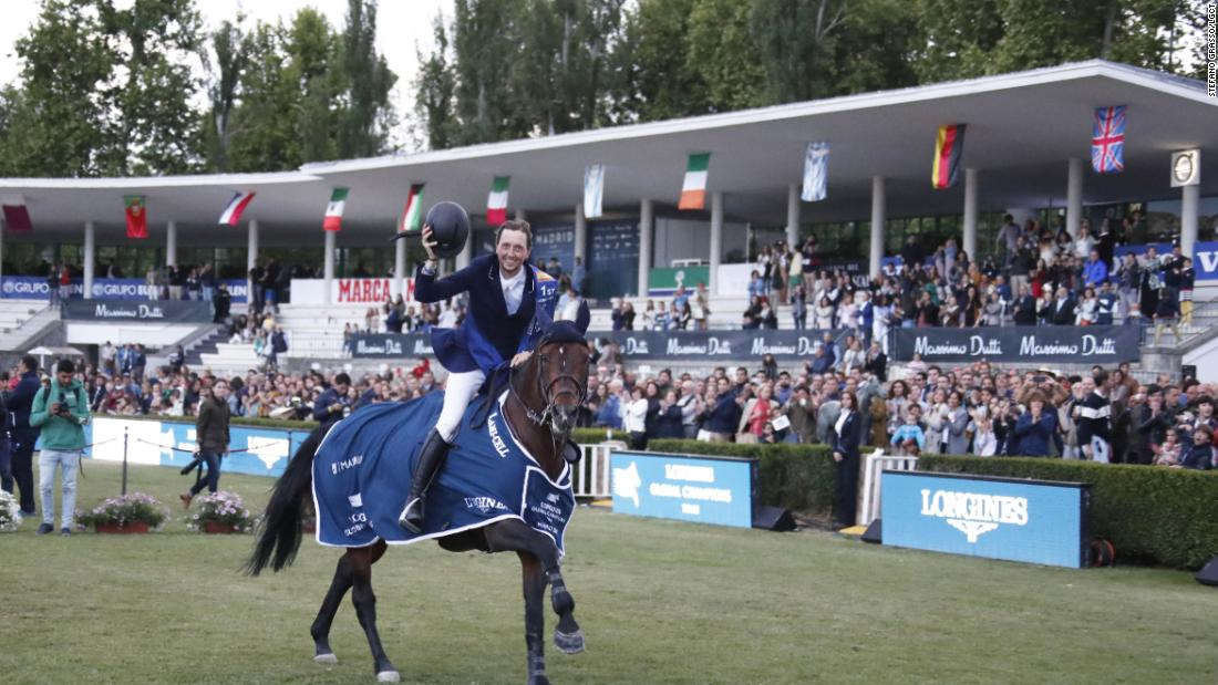 Fuchs rode Chaplin to victory in the Longines Global Champions Tour Grand Prix, as well as partnering Maher to win the Global Champions League title for the London Knights.