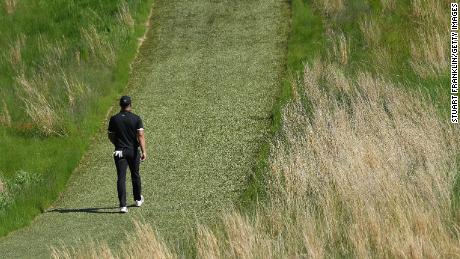 Brooks Koepka is ploughing a lone furrow at the US PGA.