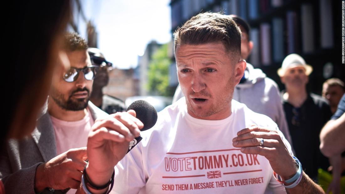 Tommy Robinson far-right rally turns violent