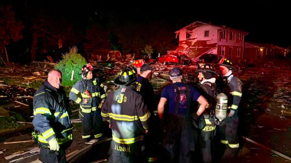 One person died in a house explosion in southern Indiana.