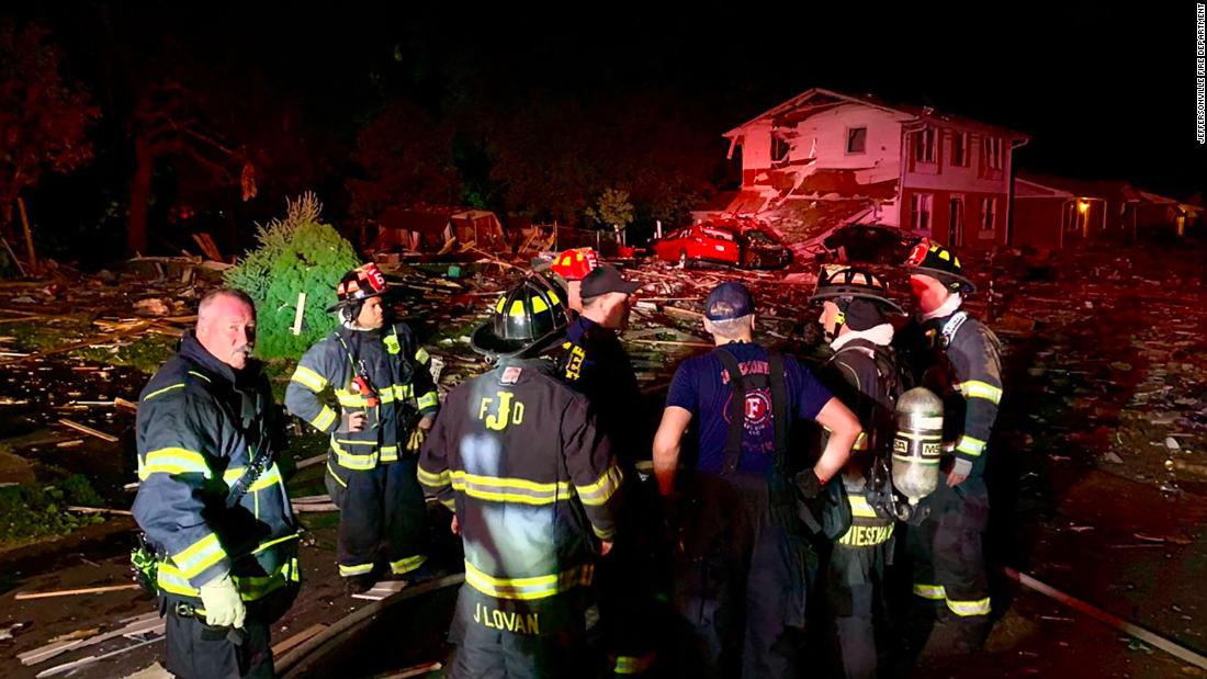 A house in Indiana exploded, killing one person