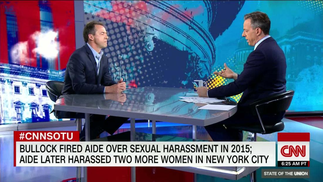 Bullock on handling of aide's sexual harassment
