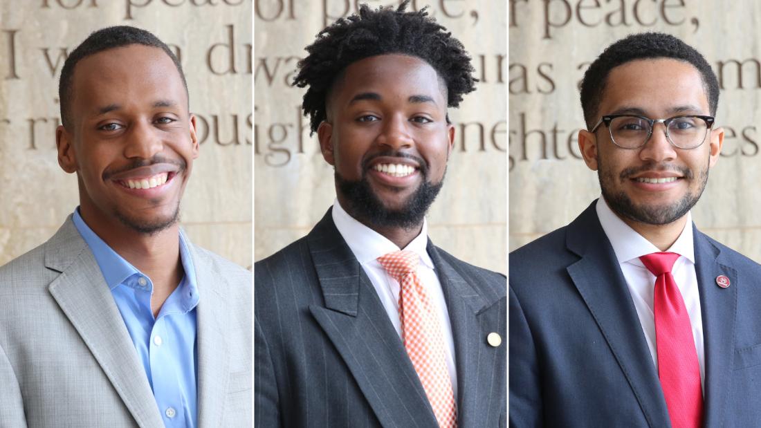 Jonathan Epps, Elijah Nesly Dormeus and Robert James say Smith's gift inspires them to pay it forward.