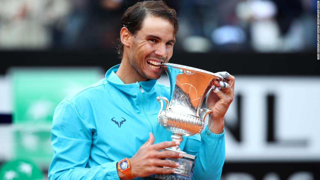 Rafael Nadal beats Novak Djokovic to win ninth Rome Masters