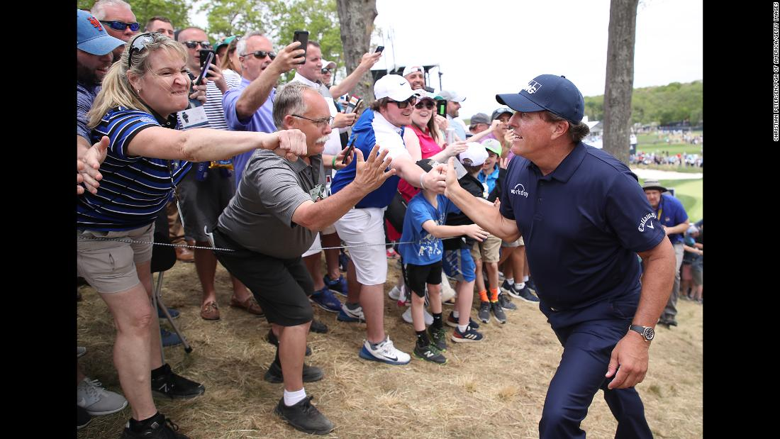 Popular veteran Phil Mickelson is a fan favorite in New York.