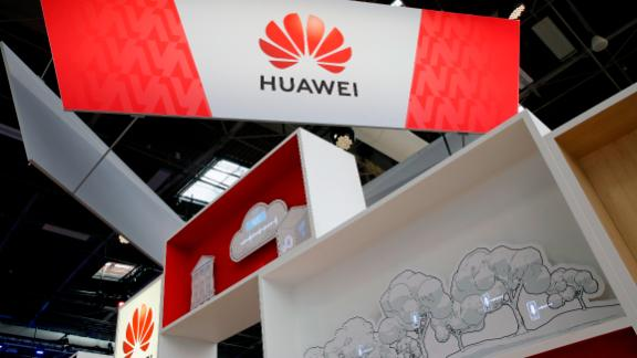 PARIS, FRANCE - MAY 17: The Huawei Technologies Co. logo is displayed during the 4th edition of the Viva Technology show at Parc des Expositions Porte de Versailles on May 17, 2019 in Paris, France. Viva Technology, the new international event brings together 9000 startups with top investors, companies to grow businesses and all players in the digital transformation who shape the future of the internet. (Photo by Chesnot/Getty Images)