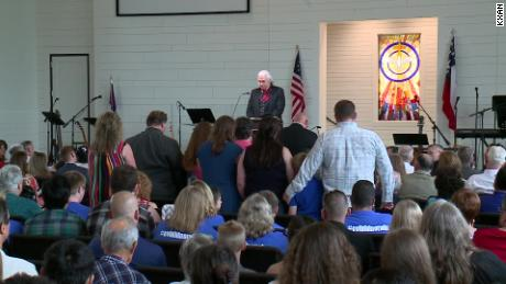 The names of the 26 victims of the Sutherland Springs shooting were read aloud Sunday during a dedication ceremony for a new sanctuary.