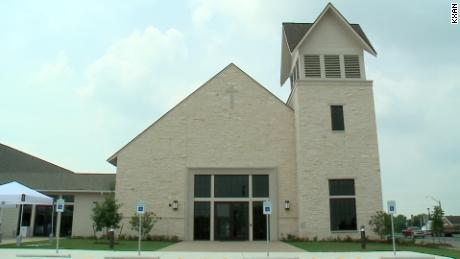 The worship building is almost three times bigger than the size of the old church, CNN affiliate KXAN reported