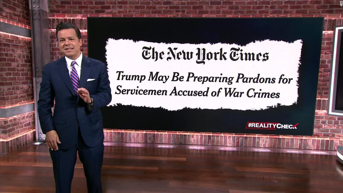NYT: Trump considering pardons for accused war criminals