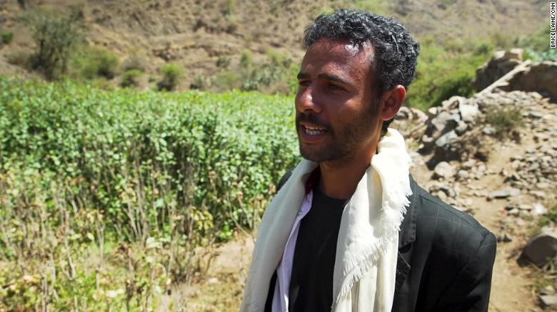 Farmer Mounir al Rubaii says khat is the only crop that generates a profit.