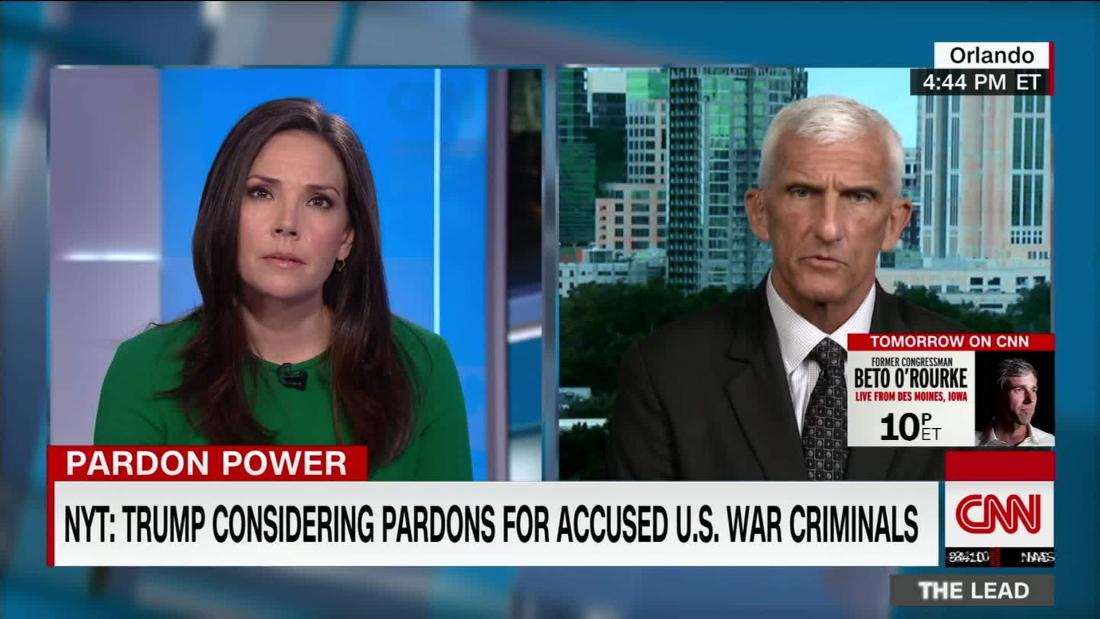 Retired General: Trump would undercut moral authority of military if he pardoned accused war criminals