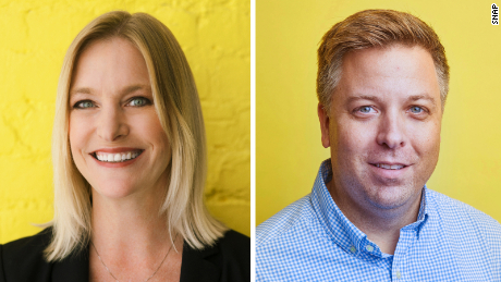 Lara Sweet (left) is Snap & # 39; s new chief people officer, while Drew Anderson (right) will be the company's next CFO.