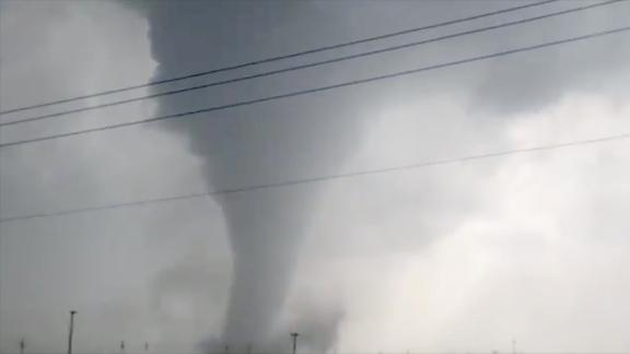 Dustin Warren captured a video of this funnel cloud on Monday, May 20, near Odessa, Texas.