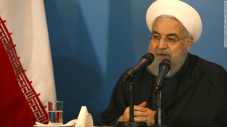 Iranian President Hassan Rouhani photographed on March 12.