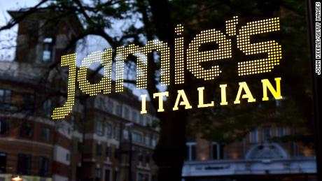 LONDON, ENGLAND - APRIL 29: A general view of Jamie Oliver's restaurant chain Jamie's Italian near the Angel on April 29, 2018 in London, England. (Photo by John Keeble/Getty Images)