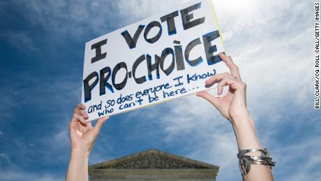 UNITED STATES - MAY 21: Abortion-rights activists rally at Supreme Court in Washington to protest new state bans on abortion services on Tuesday, May 21, 2019. (Photo By Bill Clark/CQ Roll Call)